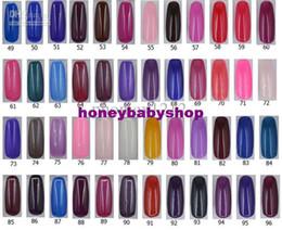 Wholesale Over colors UV gel Nail Polishes ml Soak off UV gel Polish Nail Art Glitter UV gel