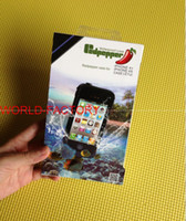 Plastic For Apple iPhone For Christmas Waterproof case for iphone 4 4S iphone 5 s9300 Water Proof Snow Dirt Shock Proof Cases in redpepper packing