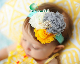 Wholesale UNUSUAL COTTON GIRLS BABY ROSE AND FLOWER HEADBAND HAIRBAND BOW