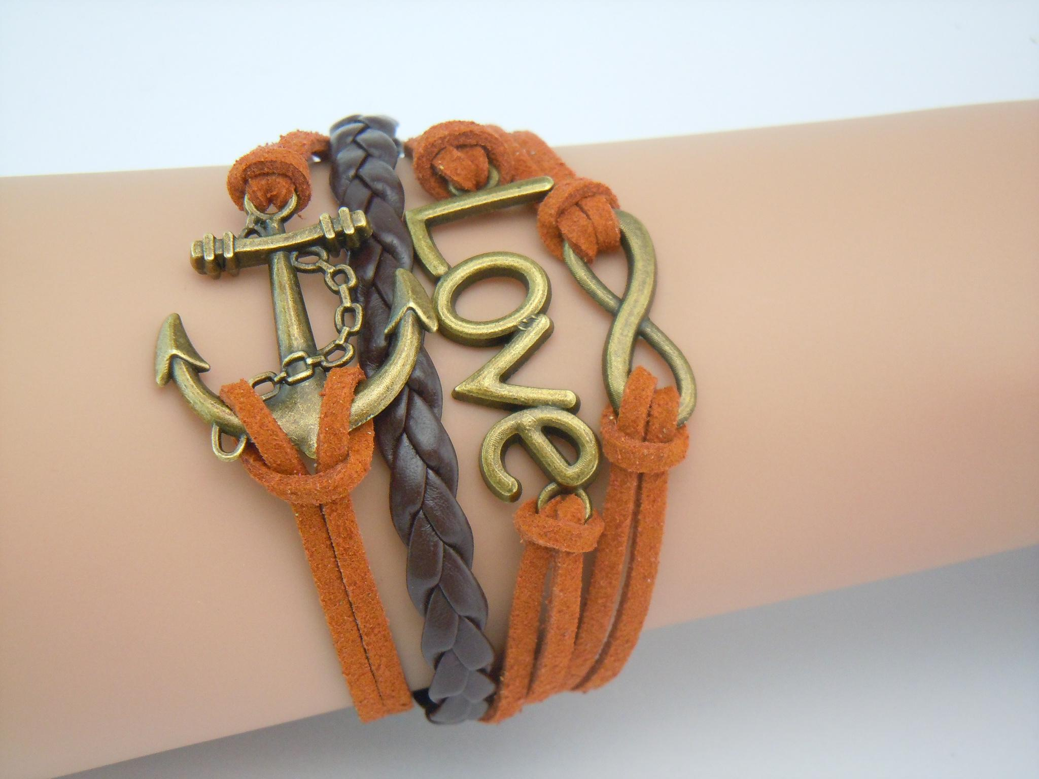 Copper Braided Rope : Rope and braided leather adjustable vintage copper