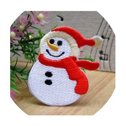 Wholesales 10 Pieces~Winter Snowman (5.5 x 5 m) Kids Patch Embroidered Iron On Applique Patch Kids Patch (ALW)