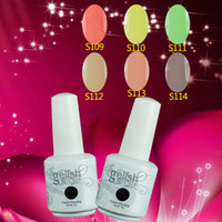 Wholesale 12pcs Gelish uv amp led soak off nail gel polish color gel pc top coat pc base New Colors