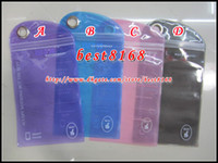 Wholesale Waterproof Zipper clear Plastic Retail bag Package packing for Samsung galaxy S3 S4 S5 S6 edge plus I9082 note Iphone G S pLUS