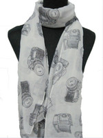 Wholesale Ladies Vintage Camera Retro Scarf Wrap Shawl cm