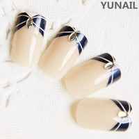 French Nail Tips Full Nail false nail pre designed French Acrylic popular style low price good quality nice fashion nail art 10sets lot freeshipping