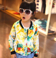 Wholesale Girls Jackets Children Outwear Long Sleeve Tops Chiffon Cardigan Kids Clothes Children Flower Jacket Fashion Polka Dot Coats Child Clothing