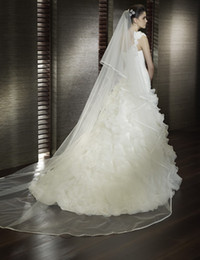 Wholesale Big Discount New Design Hot Sale Tulle Decorated Beautiful Bridal veils