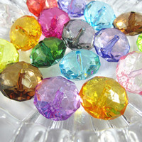 mixed plastic beads - 22mm Transparent acrylic rondelle beads for chunky necklace