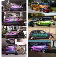 PVC chameleon film  auto body decoration stickers - Chameleon D Carbon Gloss Mosaic Vinyl Wrap Film for Car Full Body Vehicle Wrapping Decoration Auto Stickers Folie Meter Roll