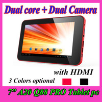 Wholesale A20 Inch Android Dual Core Q88 PRO tablet PC GB Points Capacitive Touch Screen Dual Camera HDMI USB Ebook Reader mini VIA8850
