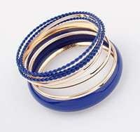 Wholesale Europe Style Colorfull Simple multi layer Cuff bracelet Bangle fashion Jewerly SFS