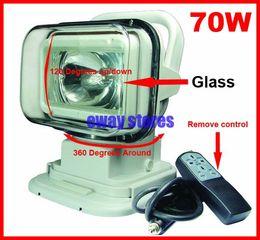 "7"" 70W HID Xenon Search Work Light Magnetic Base Remote Control 360 Degree Wireless Spot Flood Beam 12V 24V 3200lm SUV ATV 4WD 4x4 White 75W"