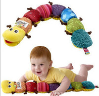 Wholesale FREE SHIP NEW Lovely Musical Inchworm Plush Soft Toys Educational Baby Toys for Baby Drop Shipping