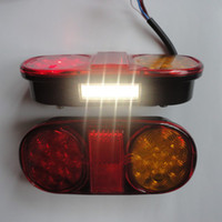 Wholesale A Pair LED Tail Lights TRAILER LIGHTS BOAT JET SKI SUBMERSIBLE bulid in NUMBER PLATE