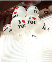 Wholesale 12 inch round balloon wedding wedding wedding Korean Valentine Birthday Balloons Balloons Balloons full of printed dots