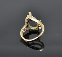Ring semi mount ring - 10x15MM HEART SHAPED CUT ct DIAMOND K YELLOW GOLD ENGAGEMENT SEMI MOUNT RING