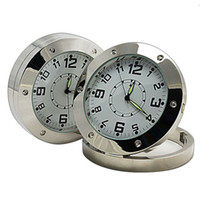 Wholesale Motion Detector Spy Covert Camera Alarm Clock DVR Round Table Desk Clock Camera GB GB NO TF Card