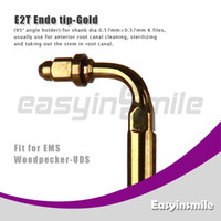 Water Pick No No easyinsmile E2T Golden Ultrasonic Scaler Endo File Holder Tip 90 graden chuck compatible with EMS Woodpecker