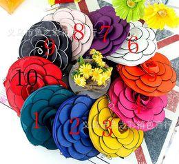 Promotion mélanger le cas de la mode Livraison gratuite Femmes vente chaude Fashion Zipper Portefeuilles Femmes PU cuir fleur Porte-clés caseMixed couleur 10pcs / lot-Vente en gros