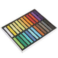 Wholesale 960 Fashion Fast Colors Non toxic Temporary Pastel Square Hair Dye Color Chalk set