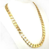 Wholesale Hot Factory Price inch mm K GP Yellow Gold Plated Men Chain Necklace African Classic Jewelry