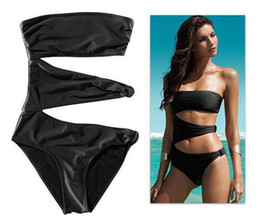 Wholesale 2013 New Fashion Sexy Women s Black One Piece Cut Out Monokini Swimsuit Bikini Padded Swimwear