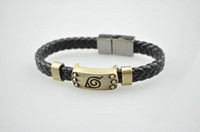 Other Asian & East Indian Men's Wholesale Naruto Konoha Bracelet 10pcs lot anime cosplay wrist strap hand chain bangle jewelry