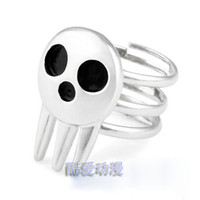 Wholesale Soul Eater silver Ring Death the Kid rings size adjustabe Anime cosplay for men women SER1