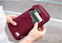 Wholesale Travel Passport Credit ID Card Cash Holder Organizer Wallet Purse Case Bag Colors