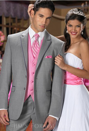 Wholesale New popular Groom Tuxedos Wedding Suits Prom Clothing jacket pants waistcoat tie DH