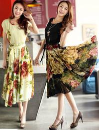 Women Short Sleeve Chiffon Dress Plus Size Mid-Calf Ball Gown Party Evening Dress Bohemian Beach Dresses