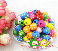 Wholesale 200Pcs Ring Protected Jewelry Accessories Colored Indian Point Wood Beads Round Beads mm