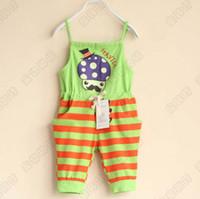 Wholesale Children Suspender Thouser Kids Casual Pants Fashion Stripe Jumpsuits Summer Shorts Girls Suspenders Cargo Pants Child Clothing Kids Wear