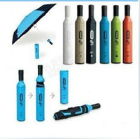 Wholesale NEW umbrella Wine Bottles Folding umbrella Rain luxury modern design wine umbrella