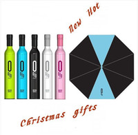 Wholesale umbrella Wine Bottles Folding umbrella Rain luxury modern design wine umbrella