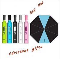 Wholesale umbrella Wine Bottles Folding umbrella Rain luxury modern design wine umbrella