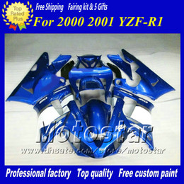 7Gifts custom racing motorcycle fairing for YAMAHA 2000 2001 YZF-R1 00 01 YZFR1 00 01 YZF R1 YZFR1000 glossy blue fairings set zs92