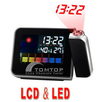 Digital   Digital LCD LED Projector Alarm Clock Weather Station Colorful Indoor Digital Alarm Clock