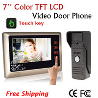 Wholesale Home Color Video Door phone DoorBell Intercom System w Inch TFT Touch Key Monitor IR Camera