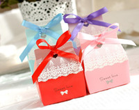 Wholesale Wedding favor boxes gift paper bags candy boxes pattern wedding candy box