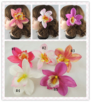 Wholesale pc Orchid Flower hair clips wedding Bridal fascinator hair accessory