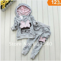 Wholesale Retail set colors kids sport wear Baby Clothing Set girls sport suit Fashion two piece Baby Garment Butterfly Sets