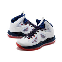 Wholesale Basketball shoes Brand new LBJS X Home mens basketball shoes in white blue red nice breathability and maximum cushioning sports shoes