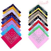 Wholesale 100 Cotton Paisley Bandanas Double Sided Head Wrap Scarf Wristband Colors Bandanas
