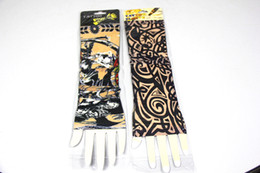 Wholesale Body Art Tattoo Temporary Elastic Tattoo Sleeve Stretchy Arm Stocking Novelty Tattoo Sleeves Mix Order