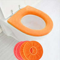 Cheap New Home Bathroom Warmer Toilet seat covers Closestool Washable Soft Seat Lid Cover Mat Pads 10PCS lot