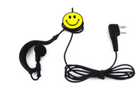 Wholesale New Pin Smiling Face PTT Earpiece for QUANSHENG PUXING WOUXUN TYT BAOFENG UV5R S Radio C086