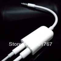 Wholesale 3 mm Stereo Earphone JACK one to two Headphone Spliter Adapter Audio Cable spliter adaptateur