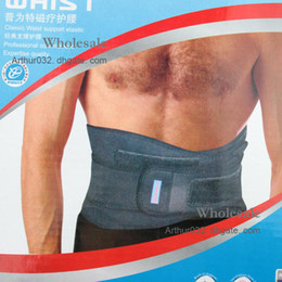 Wholesale Elastic Waist Support Pain Back Brace Body Band Black Magnetic Therapy Waist