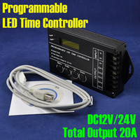 Wholesale NEW DC12V V Channel Total Output A Common Anode Programmable LED Time Controller TC420